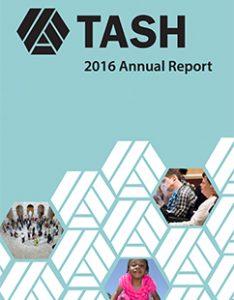 Cover of 2016 TASH Annual Report