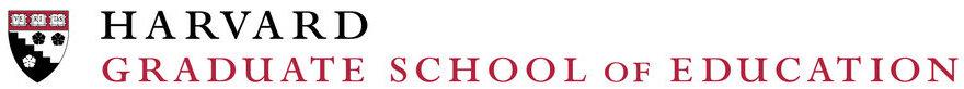 The Harvard Graduate School of Education crest and letterhead