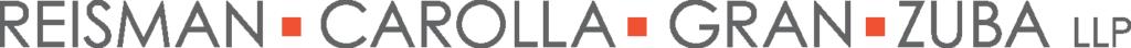 The logo of the Reisman Carolla Gran Zuba law firm